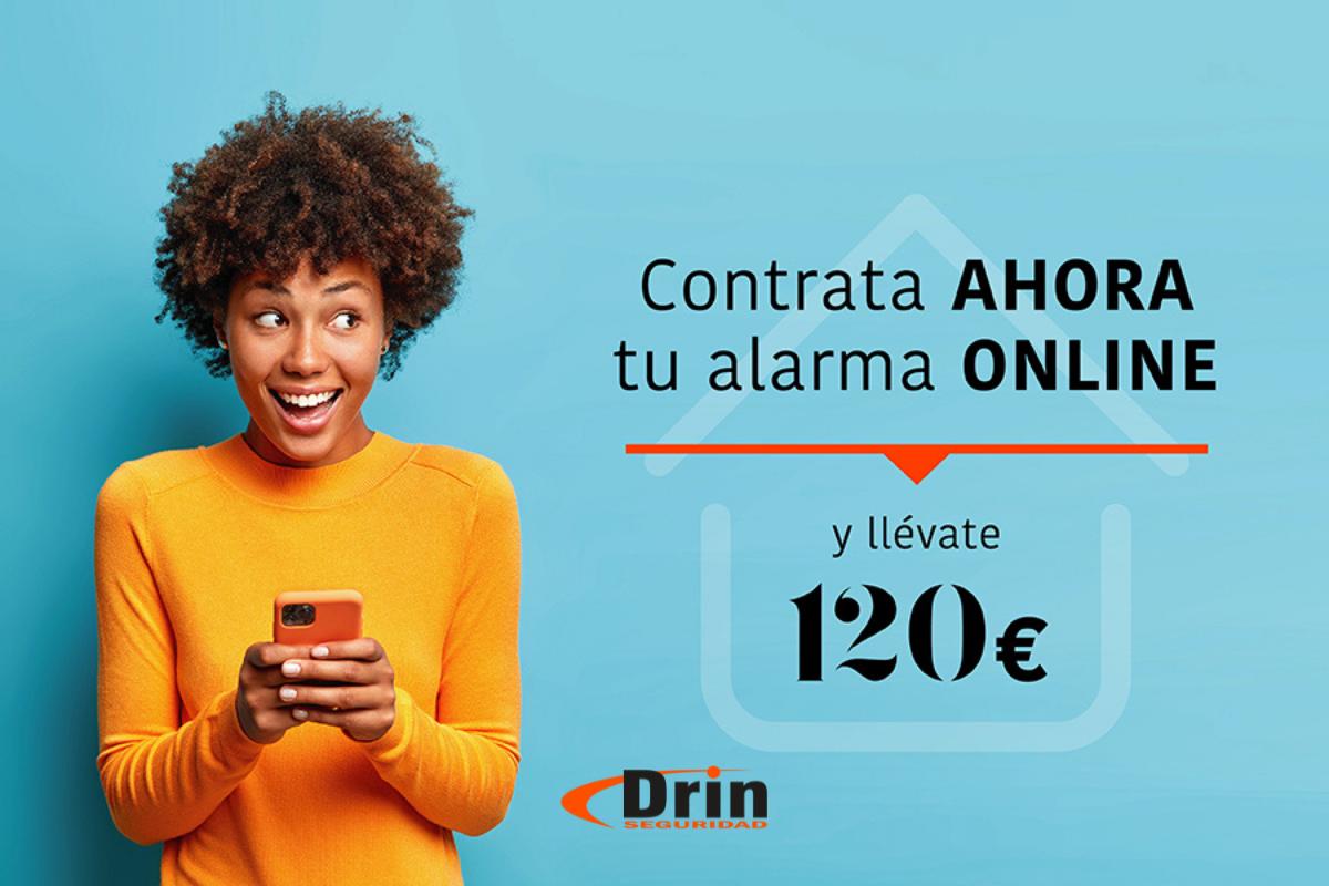 Contrata tu alarma y consigue 120 euros de descuento